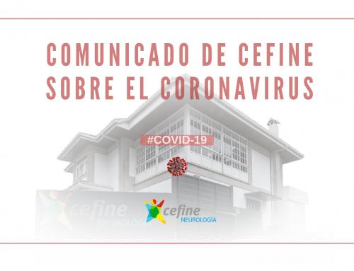 Comunicado de Cefine sobre el coronavirus