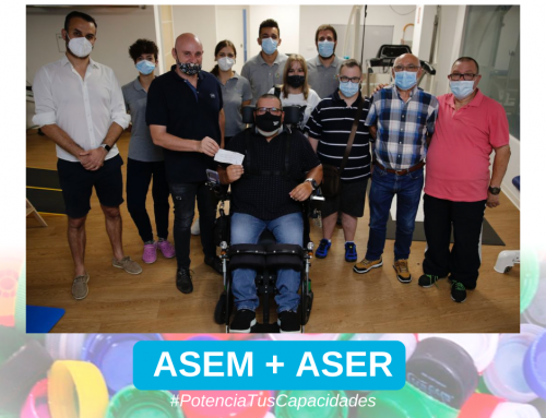 Colaboración ASER + ASEM. Proyecto de rehabilitación neurológica para niñas y niños con enfermedad neuromuscular.